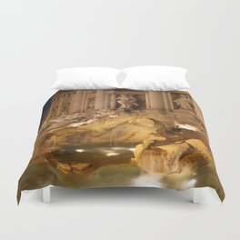 Trevi Fountain - Rome, Italy Duvet Cover