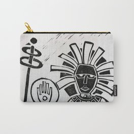 The Hand - Abstract Surreal linocut Carry-All Pouch