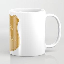 United States Marshal Shield Badge Coffee Mug