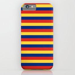 Liechtenstein flag stripes iPhone Case