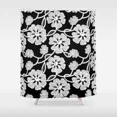 50's Lace Shower Curtain