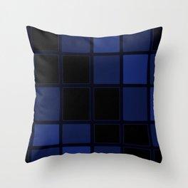 Darker than Blue Throw Pillow