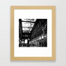 Shopping in Rome Framed Art Print