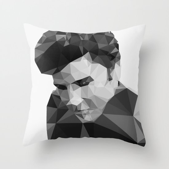 Elvis Presley - Digital Triangulation Throw Pillow