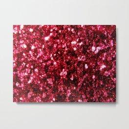 Pink glitter sparkle Metal Print