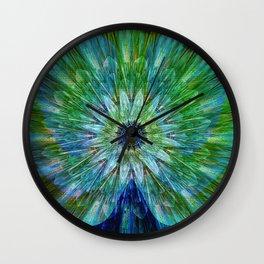 Beautiful as a peacock Wall Clock