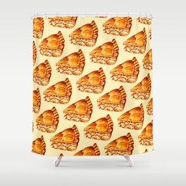 Apple Pie Pattern Shower Curtain