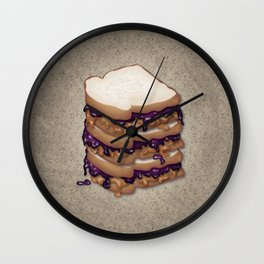 Peanut Butter and Jelly Sandwich Wall Clock