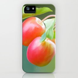 Wild apples, watercolors iPhone Case