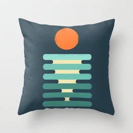 Minimalist ocean Throw Pillow