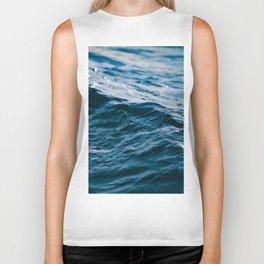 Blue Ocean Waves Biker Tank