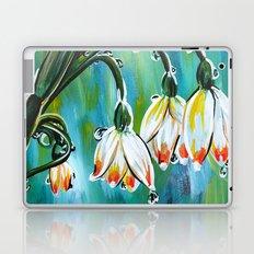 Drips on droopy flowers Laptop & iPad Skin