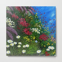Summer Garden Landscape Metal Print