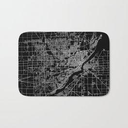 Toledo map ohio Bath Mat