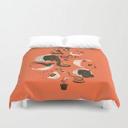 Cones of Shame (orange) Duvet Cover
