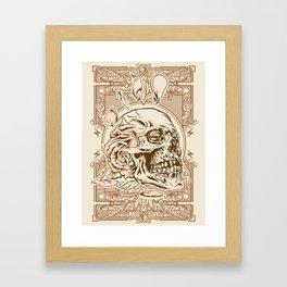 Skull Flower Art Print Framed Art Print