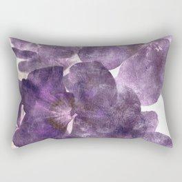 Purple Blossoming Rectangular Pillow