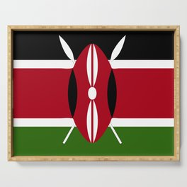Kenya flag emblem Serving Tray