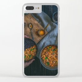Best Damn Coconut Curry Clear iPhone Case