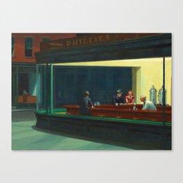 NIGHTHAWKS - EDWARD HOPPER Canvas Print