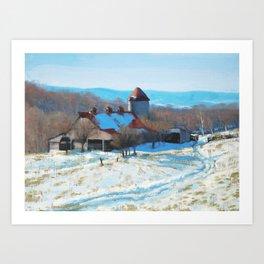 Winter's Mantle Art Print