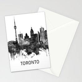 Toronto Canada Skyline BW Stationery Cards