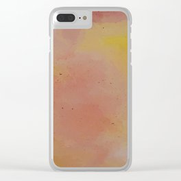 Sunset at Dusk // Watercolour Wash Clear iPhone Case