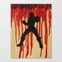 power ranger Canvas Prints featuring Red Power Ranger by Oksana's Art