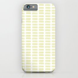 Watercolour Dash pattern in Sand iPhone Case