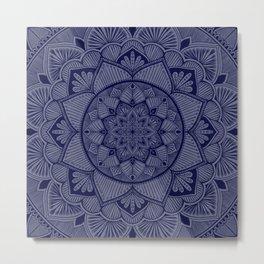 Indigo Mandala 2 Metal Print