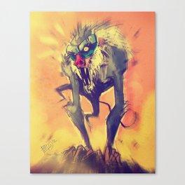 Rafiki´s Rage Canvas Print