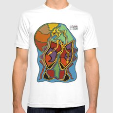 Stuck In Colour MEDIUM Mens Fitted Tee White