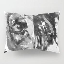 Black and White Half Faced Border Collie Pillow Sham