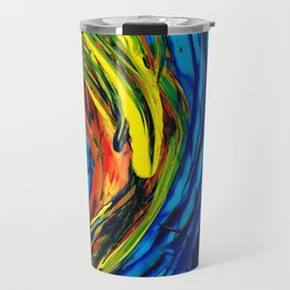 Colorful Abstract Art - Energy Flow 2 - By Sharon Cummings Travel Mug