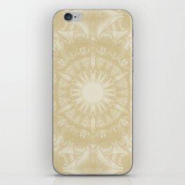 Peaceful kaleidoscope in beige iPhone Skin