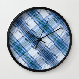 Colorful Striped loincloth fabric background Wall Clock