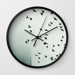 Fog and Feathers Wall Clock