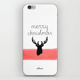 Christmas time - Deer edition iPhone Skin