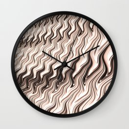 Melted Chocolate Wall Clock