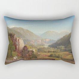 The Juniata Evening 1864 By Thomas Moran | Scenic National Park View Reproduction Rectangular Pillow