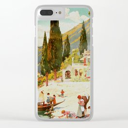 Switzerland and Italy Via St. Gotthard Travel Poster Clear iPhone Case