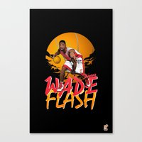 nba Canvas Prints featuring NBA Legends: Dwyane Wade by Akyanyme