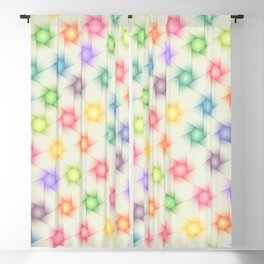 Colorful Polygon Pattern Blackout Curtain