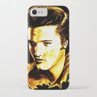 elvis presley iPhone & iPod Cases featuring Elvis Presley by GittaG74