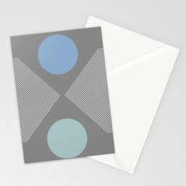 Earth And Moon - Mid-Century Minimalist Stationery Cards