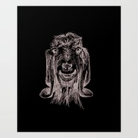 goat Art Prints featuring Goat by Sarah Mosser