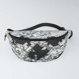 Geometric Light Grey Skull Composed Of Triangles Fanny Pack