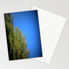 Green Leaves Clear Blue Sky Stationery Cards