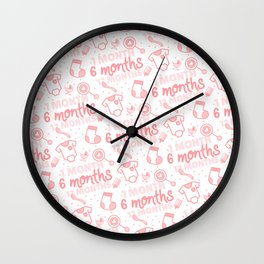 Baby developement milestone pattern design Wall Clock