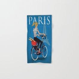 Vintage poster - Paris Hand & Bath Towel